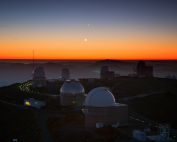 Three planets dance over the ESO's La Silla Observatory